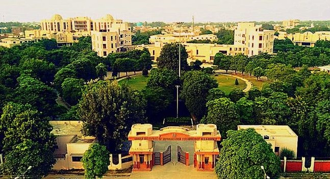 Aerial view of IIIT-A campus